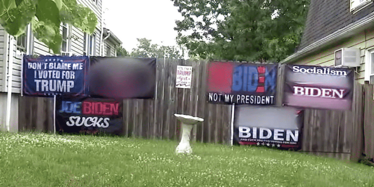 Judge orders woman to remove 'F*** Biden' flags or face daily $250 fines: 'We're going into censorship' 1