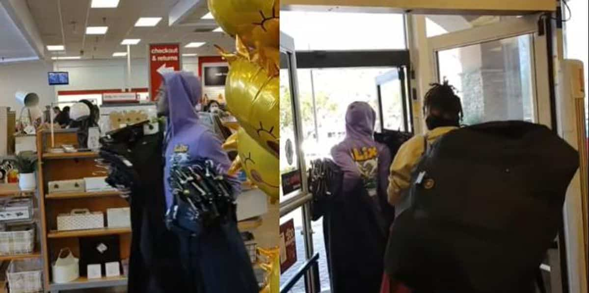VIDEO: Brazen thieves casually stroll out of TJ Maxx in California with heaps of stolen merchandise 1