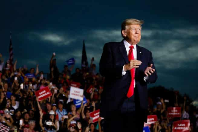 President Trump pushes border security, election integrity, economy at Fla. rally 1