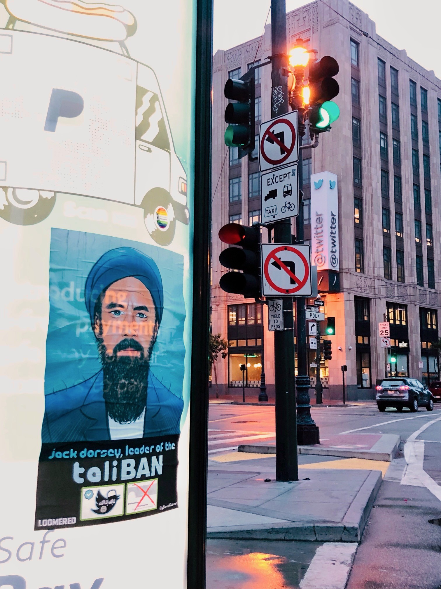 'TaliBAN:' Street Art Denouncing Twitter Censorship Covers San Francisco 1