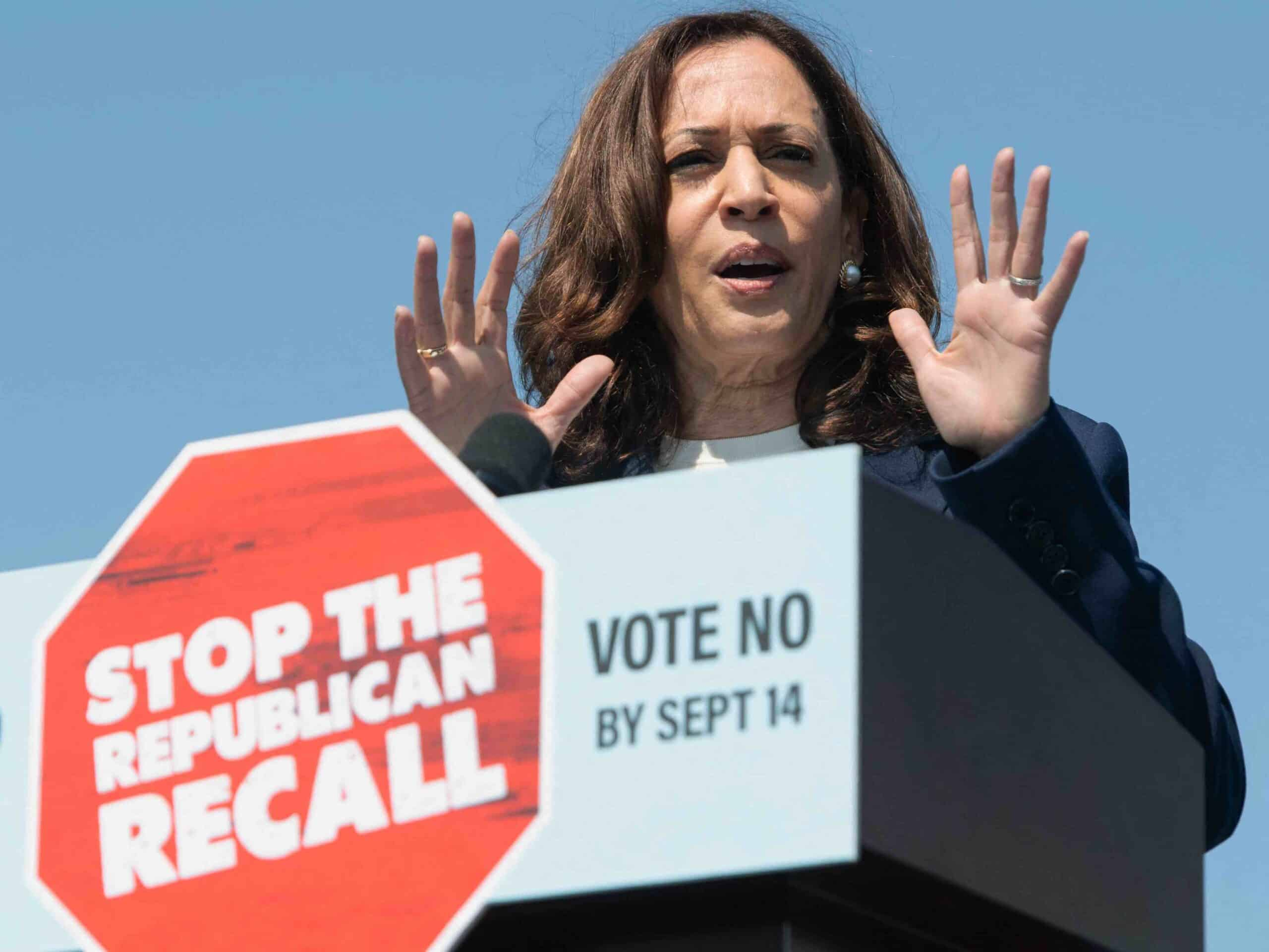 Kamala Harris Campaigns for Gavin Newsom: 'If They Can Win in California, They Can Do This Anywhere' 1