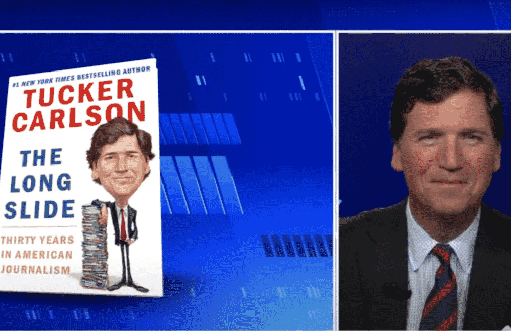 Tucker Carlson Slams His Publisher Simon & Schuster For Censorship That 'Mirrors The Decline Of America' 1