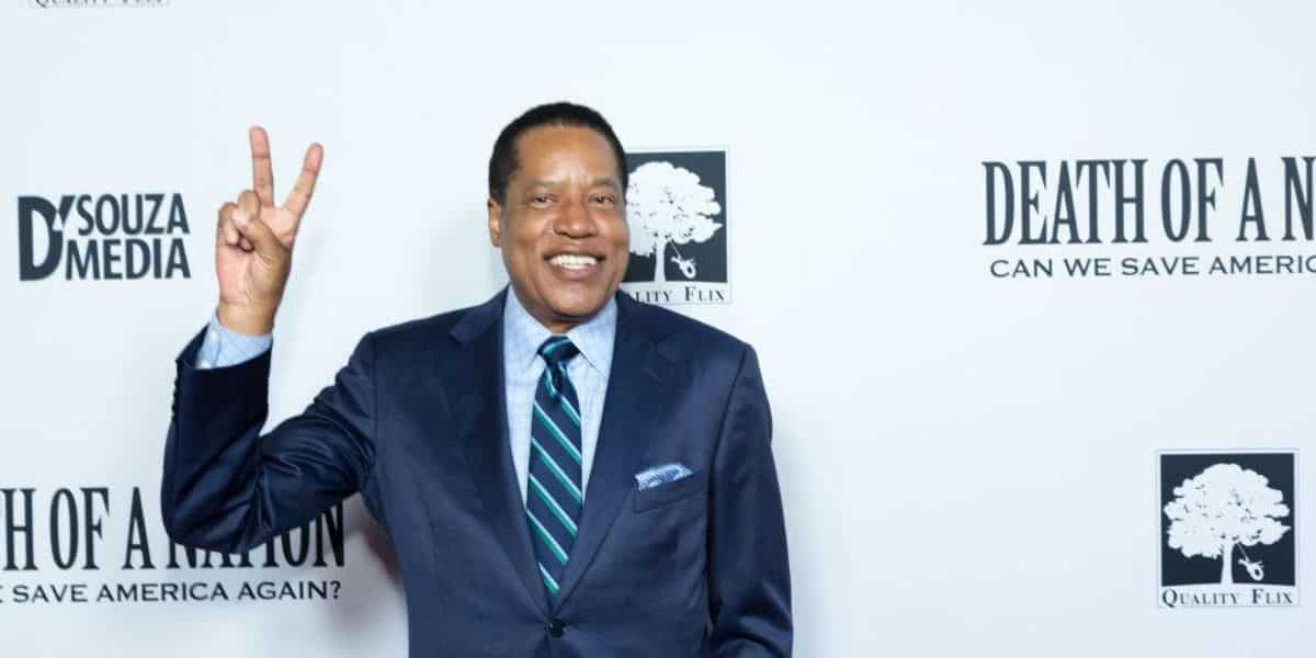 Video shows person wearing a gorilla mask throwing an object at California gubernatorial recall candidate Larry Elder 1